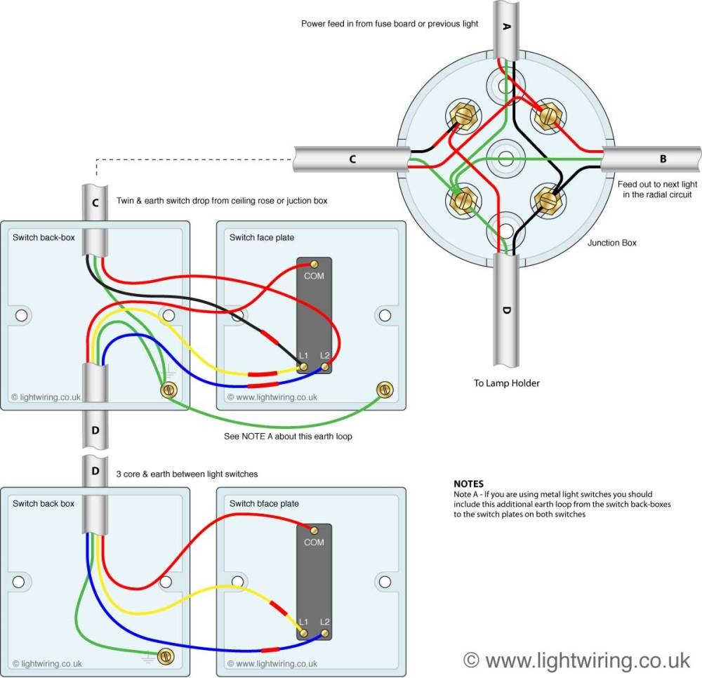 medium resolution of 2 gang switch wire diagram
