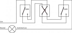intermediate light switch wiring   Light wiring