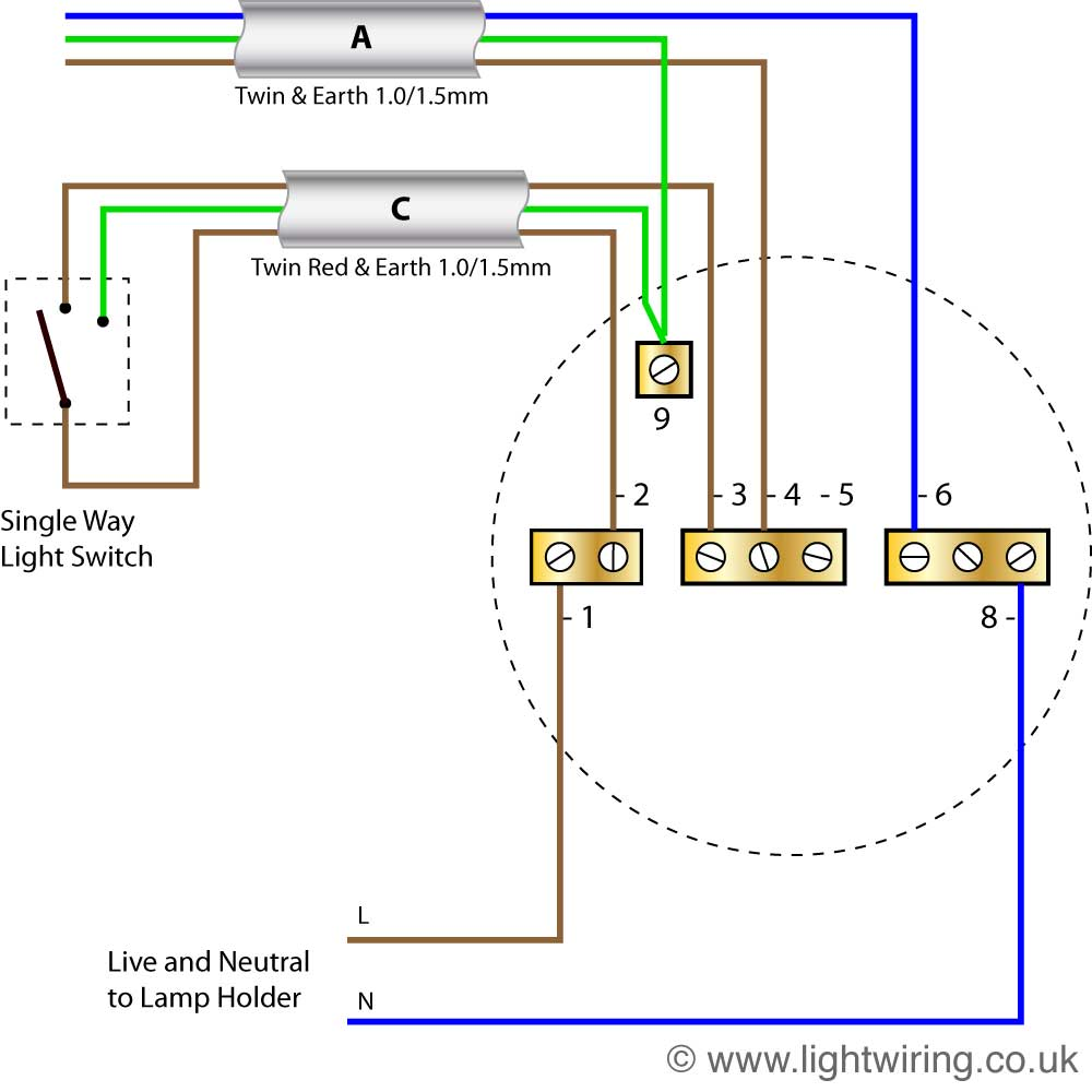 simple three way switch diagram honeywell thermostat wiring rth6350 radial circuit light |