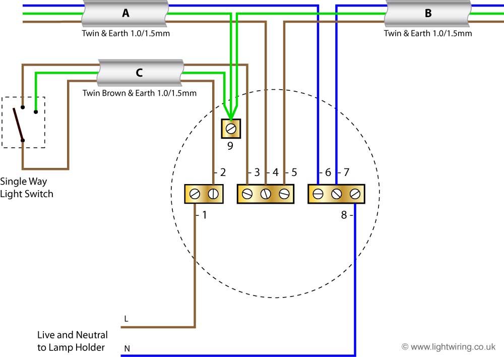wiring diagram for house lighting circuit,