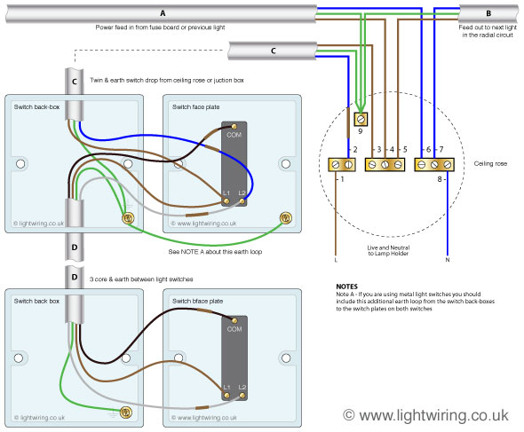 two way switching wiring diagram 590x487 3 position toggle switch wiring diagram efcaviation com two position selector switch wiring diagram at soozxer.org