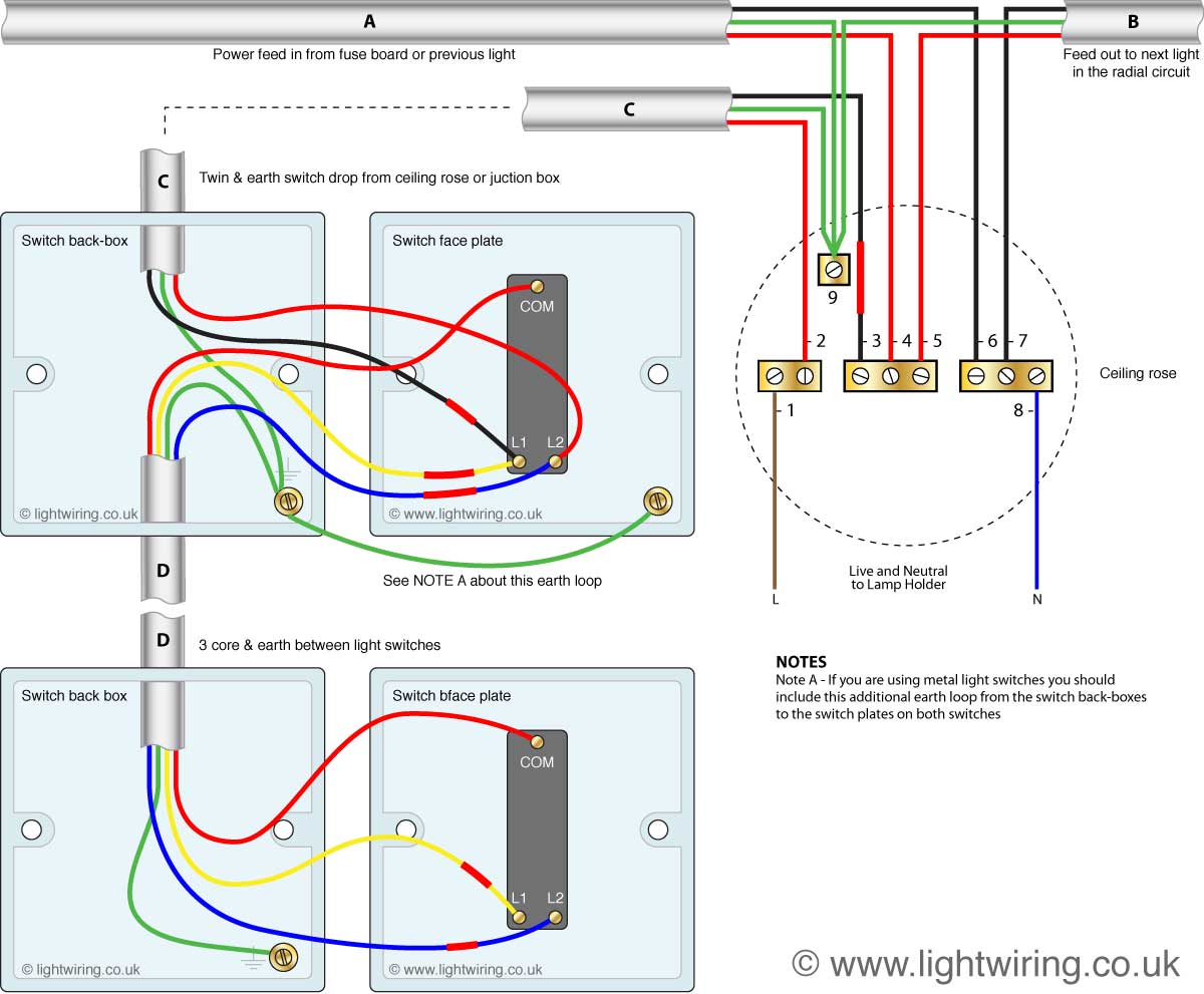 4 way switch wiring diagram uk husqvarna 445 chainsaw parts 2 light