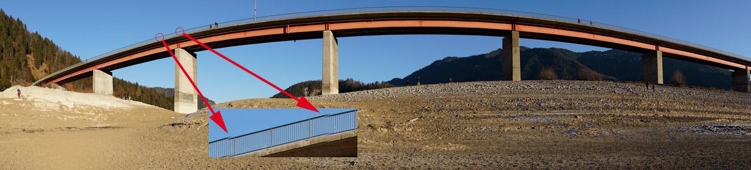 An geometrische Linien und Übergängen stolpern Panoramabilder gerne
