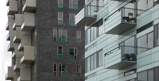 Détails d'architecture, Ørestad City, Copenhague, Danemark - Architects : 3XN - Photo : Vincent Laganier