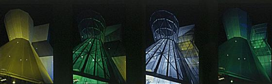 Expo.02, Arteplage de Bienne, Suisse - Architecte : Coop-Himmelb(l)au  - Lumière : Yann Kersalé - Photo : Vincent Laganier