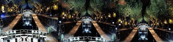 Canal Saint-Martin – Yann Kersalé – AIK – Nuit Blanche, Paris, France - Photo : Vincent Laganier