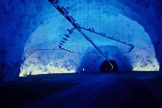 Tunnel de Laerdal, entre Bergen et Oslo, Norvège - Conception lumière et Photo Erik Selmer_54