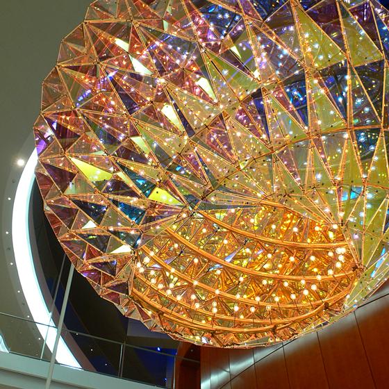 Sculpture de lumière, foyer de l'Opéra royal danois, Copenhague, Danemark - Artiste : Olafur Eliasson - Architecte : Henning Larsen - Photo : Vincent Laganier, 2008