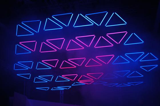 Simulation du projet Grid, Hôtel de Région Rhône-Alpes, Lyon, Fête des Lumières 2013 © Christopher Bauder - White Void