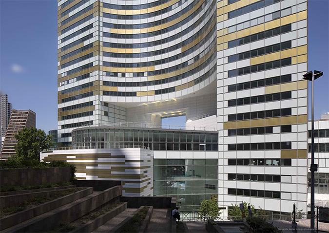 Base de la Tour Eqho, Paris-La Défense, France - Hubert & Roy architectes et associés - Concepto, Roger Narboni © Fernando Javier Urquijo photographe