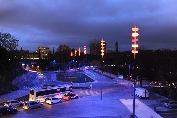 Onde chromatique, boulevard de la Seille, Metz . © L'Atelier Lumière