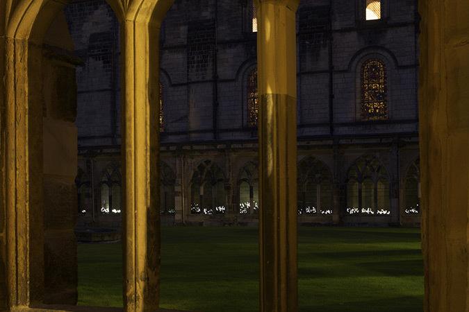 Dune de Daan Roosegaarde - Durham Cathedral-Cloisters, Grande Bretagne