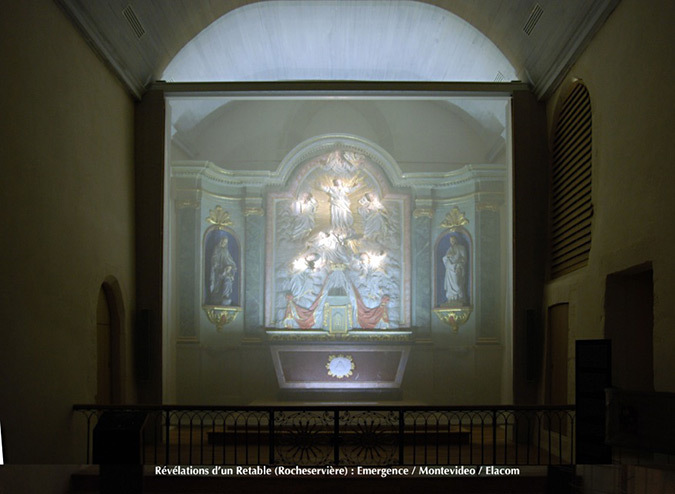 Revelations-Retable-05-eglise Saint-Sauveur, Rocheserviere, France © Atelier Emergence, Montevideo, Elacom