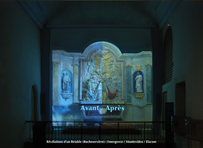 Revelations-Retable-11-eglise Saint-Sauveur, Rocheserviere, France © Atelier Emergence, Montevideo, Elacom
