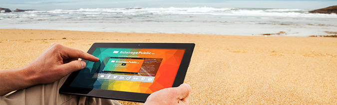 Eclairagepublic.eu - iPad © Aubin Ribeyron