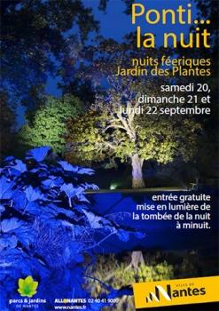 Nuits féériques du jardin des plantes de Nantes aux JNL ...