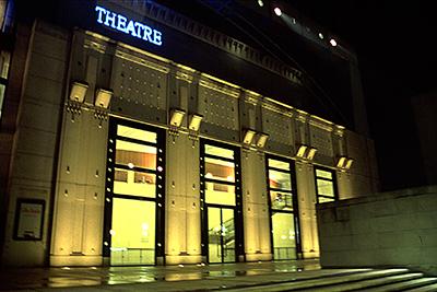 7-----Théâtre-Médiathèque, Saint Quentin en Yvelines - Architecte Stanislas Fiszer - Concepteur lumière Roger Narboni, Concepto - Photo Vincent Laganier