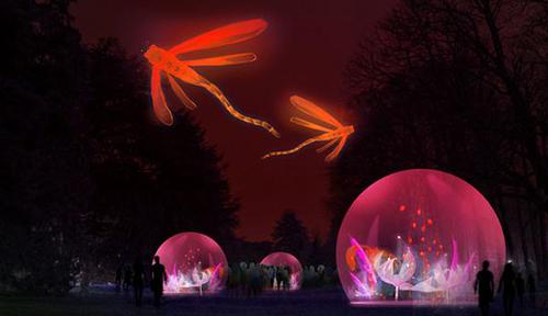 Jardin d'hiver - Parc de la Tête d'Or - Lyon - Christophe Martine - Fete des Lumieres 2014