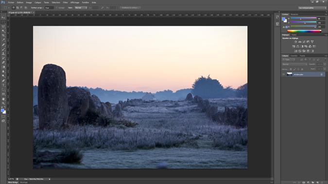 1 - ouvrir l_image dans Photoshop - tutoriel Photoshop, maitriser la nuit – Nicolas Houel