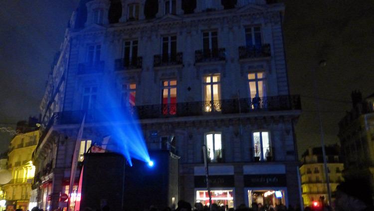 17 Son et lumiere - Illumi Nantes - Facade de la Cathedrale - Peinture Yann Thomas - Images Spectaculaires © Vincent Laganier