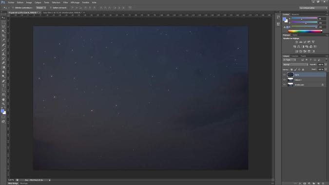 3 - ajouter un ciel - tutoriel Photoshop, maitriser la nuit – Nicolas Houel