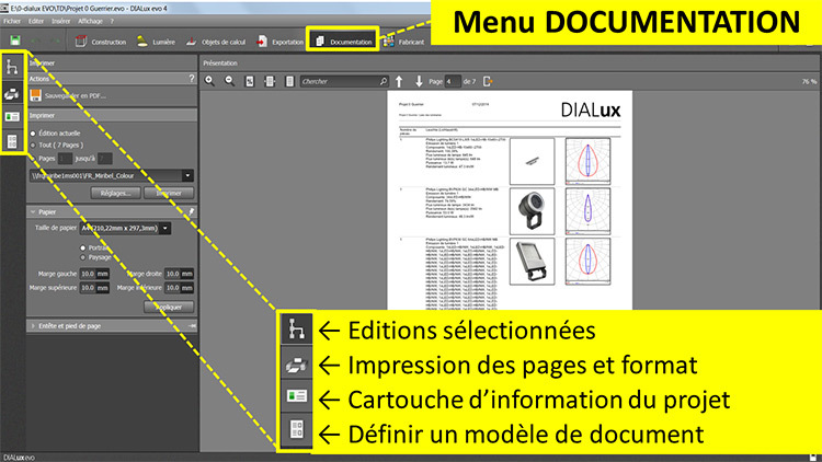 DIALux evo 4 - menu 6 documentation - en francais - Vincent Laganier