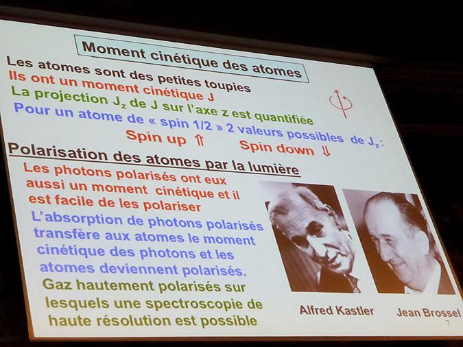 Année de la Lumière en France 2015 - Cérémonie de lancement - Lumière et atomes - Claude Cohen-Tannoudji - Grand Amphithéâtre de la Sorbonne, Paris
