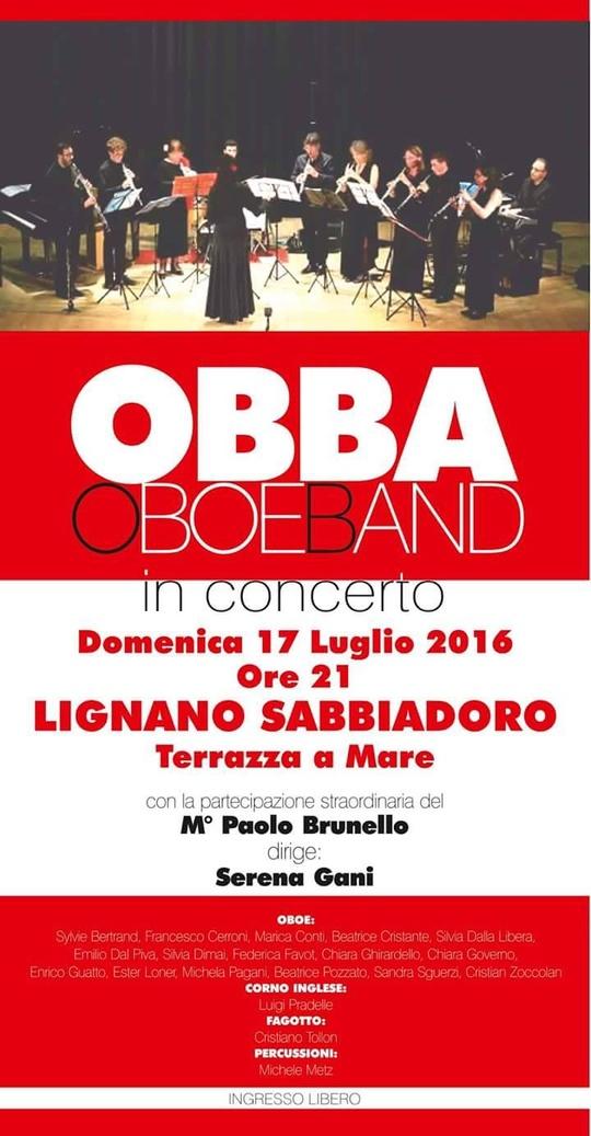 OBBA OboeBand in concerto  Lignano Sabbiadoro