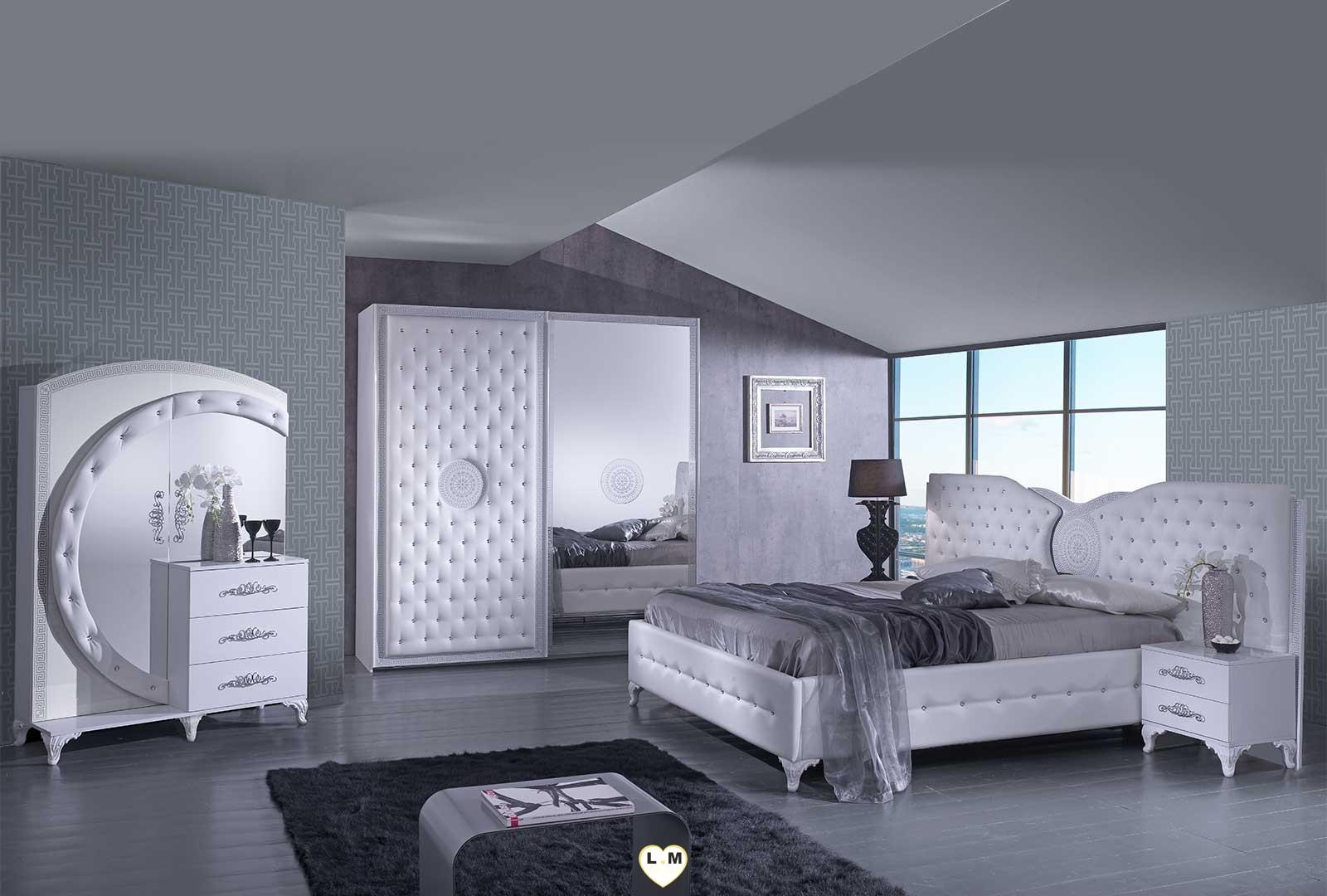 tana blanc composition ensemble meuble chambre a coucher