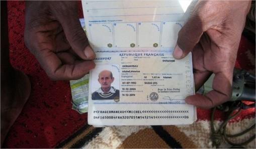 pasaporte de Michel Germaneau