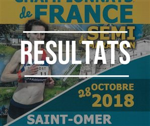 Résultats des championnats de France de semi-marathon