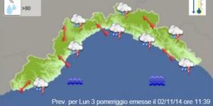 Allerta Meteo 1 in Liguria