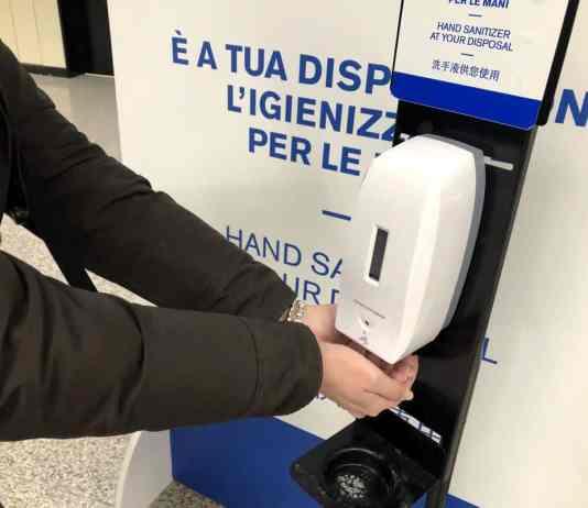 dispenser igienizzante, distributore