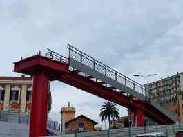 passerella pedonale Cornigliano