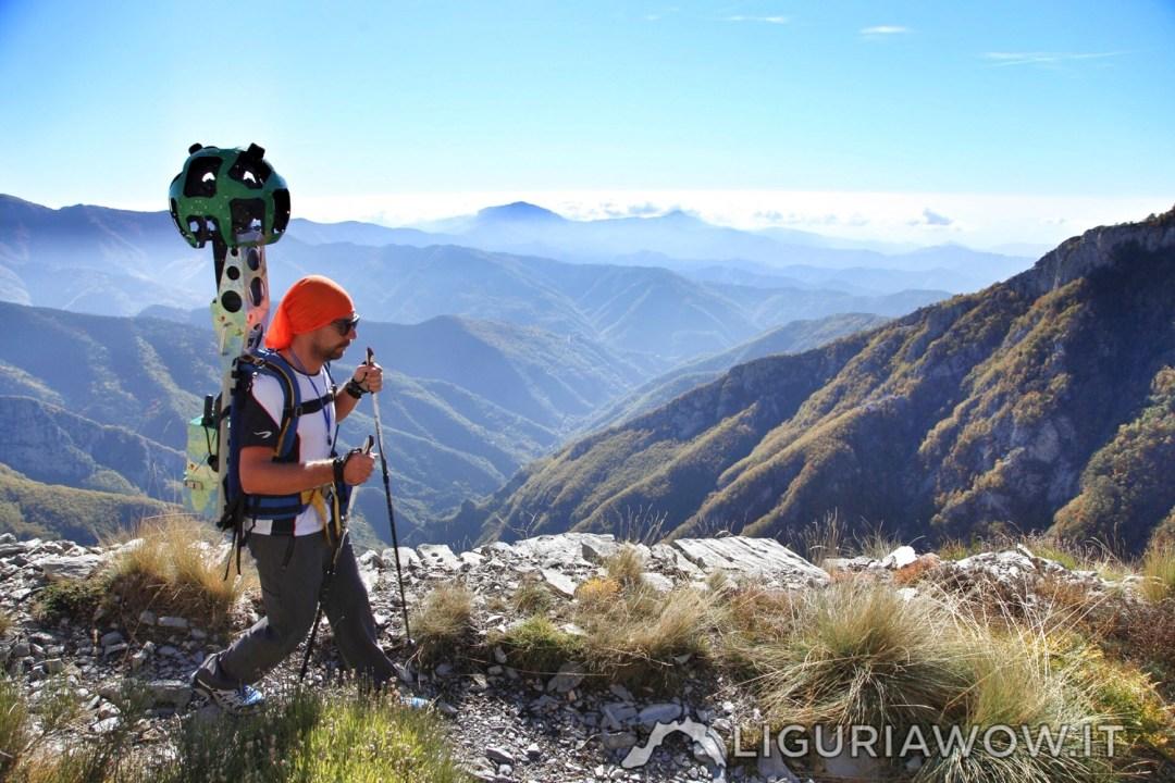 Matteo Ramella sul Sentiero degli Alpini
