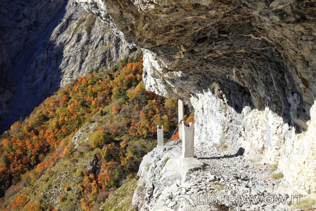 Il Sentiero degli Alpini verso la Gola dell'Incisa