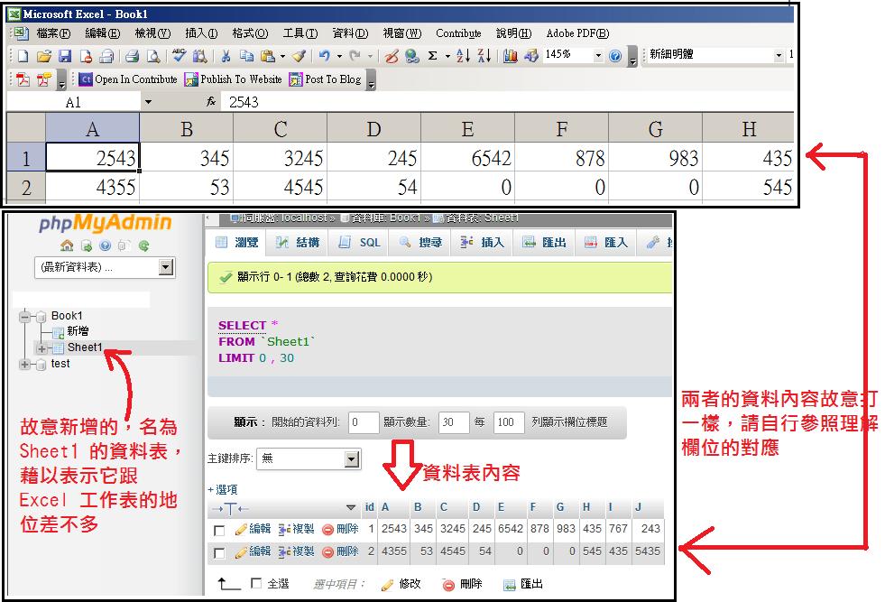 資料庫名詞與概念簡介–用 Excel 為概念出發,前往 MySQL | 一本小筆記