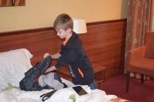 Hotel hotelovernachting moeder zoon