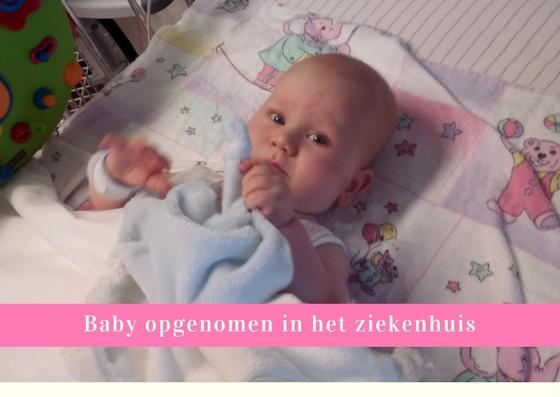baby opgenomen in het ziekenhuis