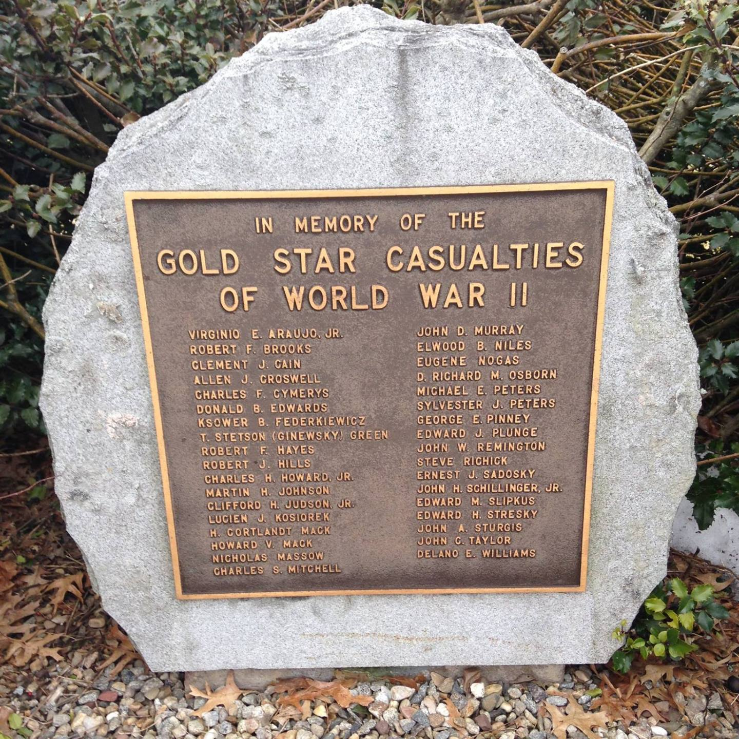 Windsor Connecticut Gold Star Casualties of World War II