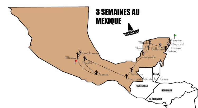itineraire mexique 3 semaines