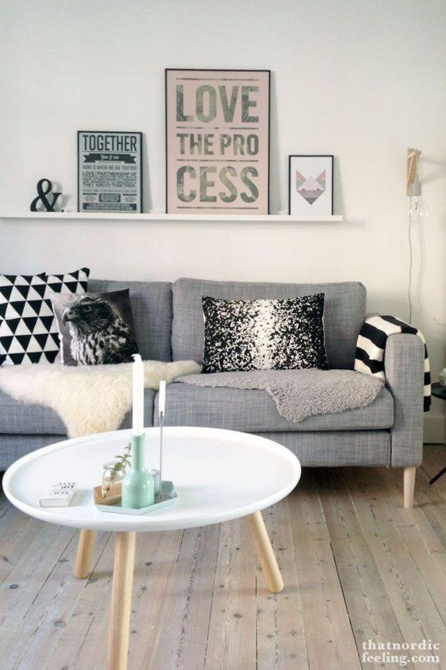 deco murale salon industriel. Black Bedroom Furniture Sets. Home Design Ideas