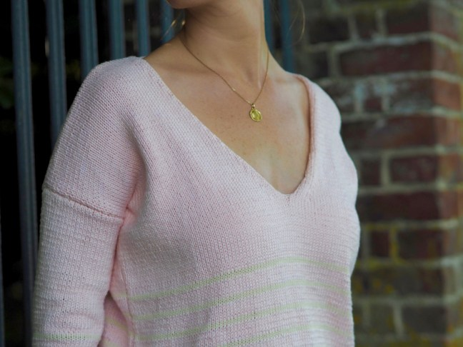 tricoter pull col en v