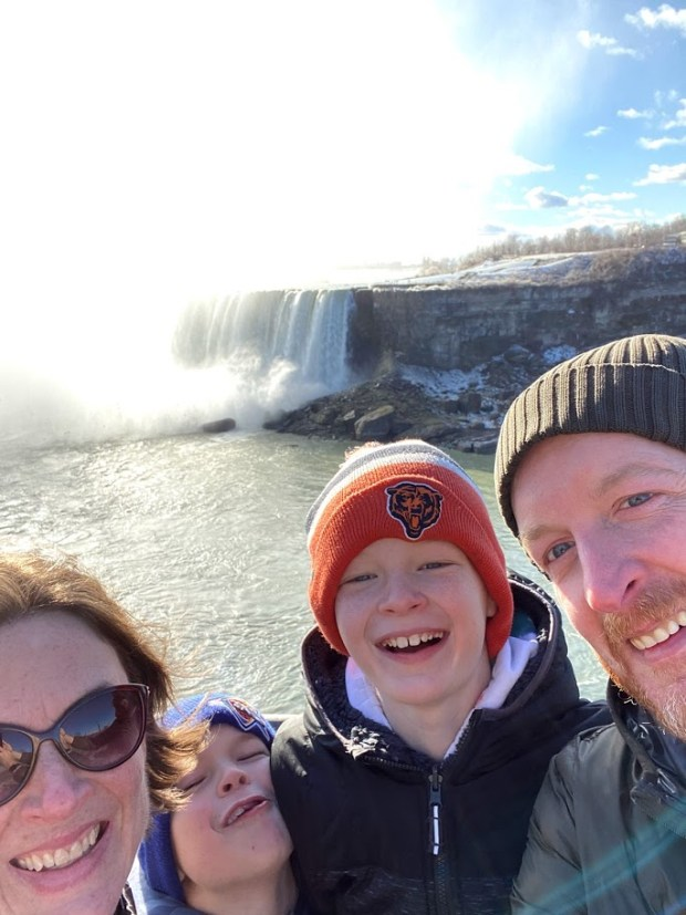 Like a dad family in Niagra Falls.