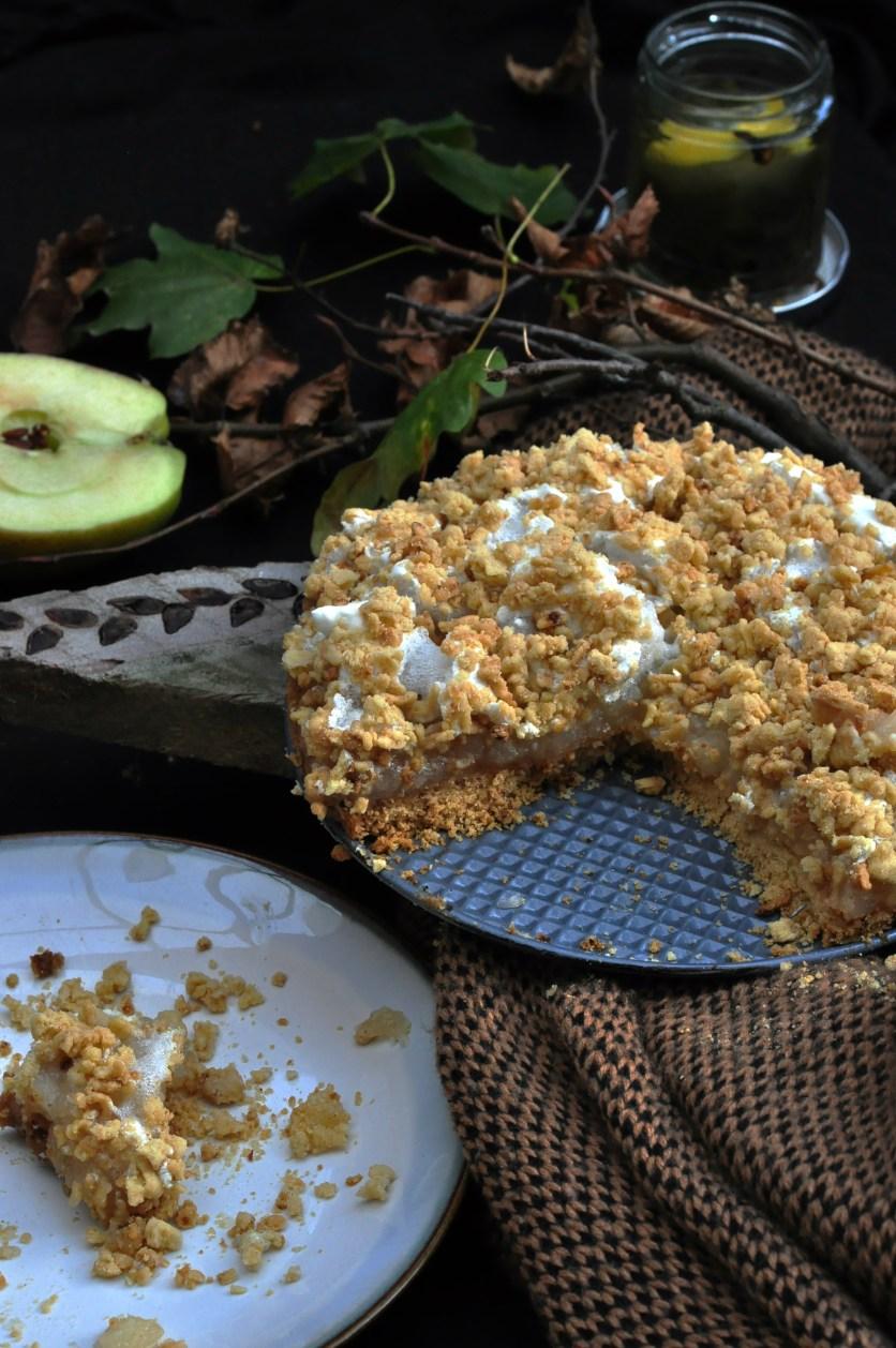 apple pie with foam