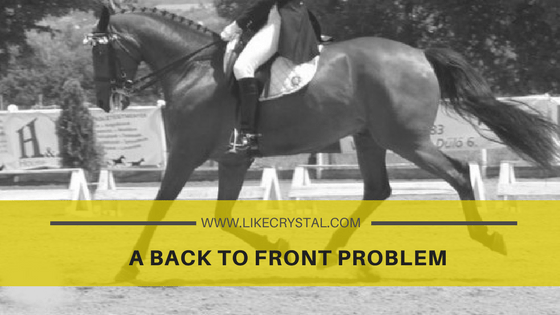 A BACK TO FRONT PROBLEM