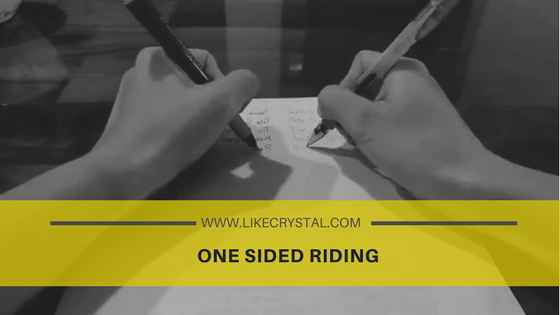 One Sided Riding