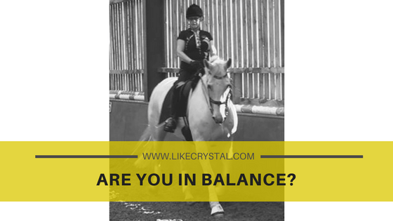 Q2 – Are You In Balance?