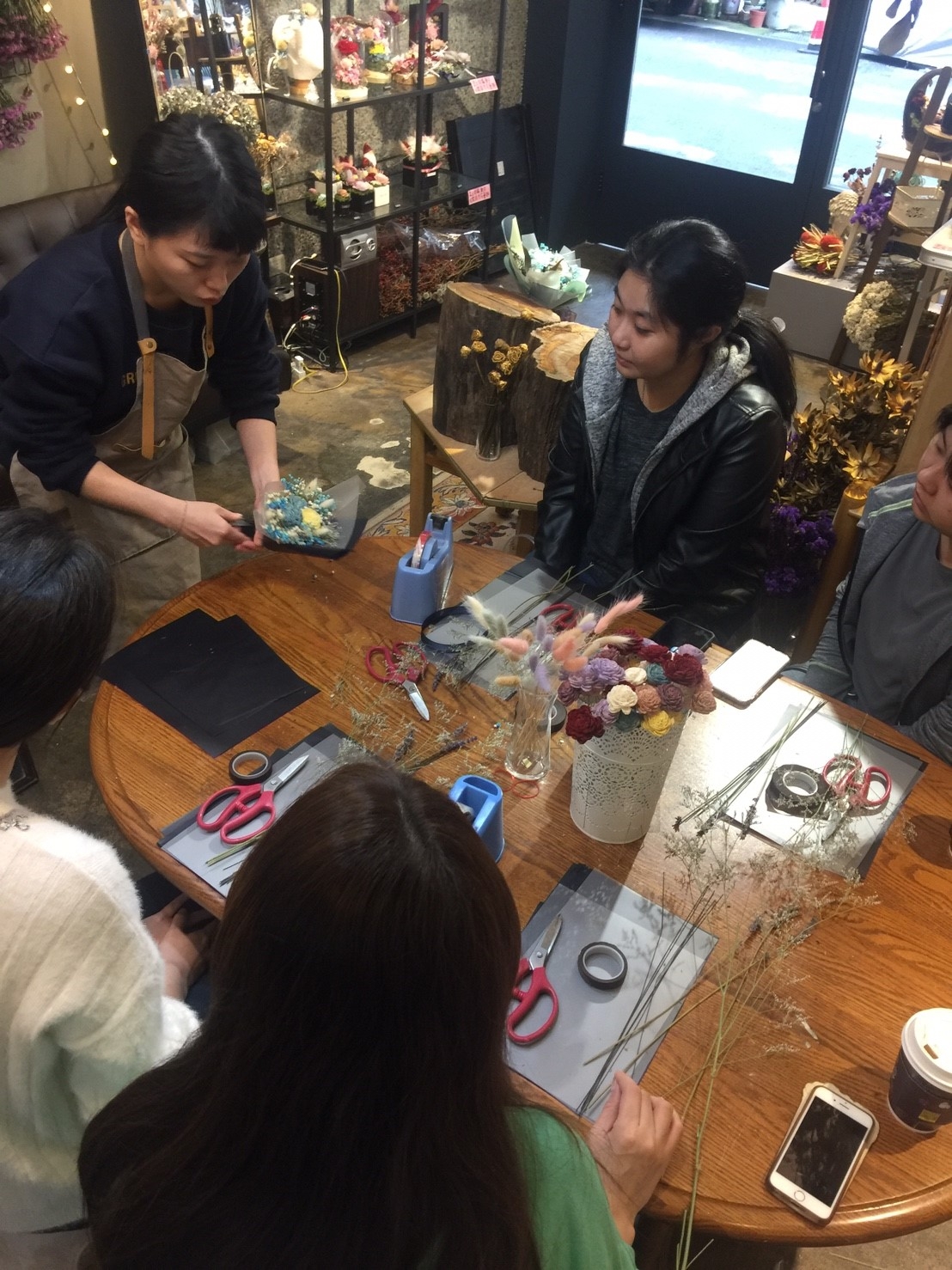 乾燥花課程教學台北,喜歡生活台北乾燥花店,乾燥花教學,台北花藝教學