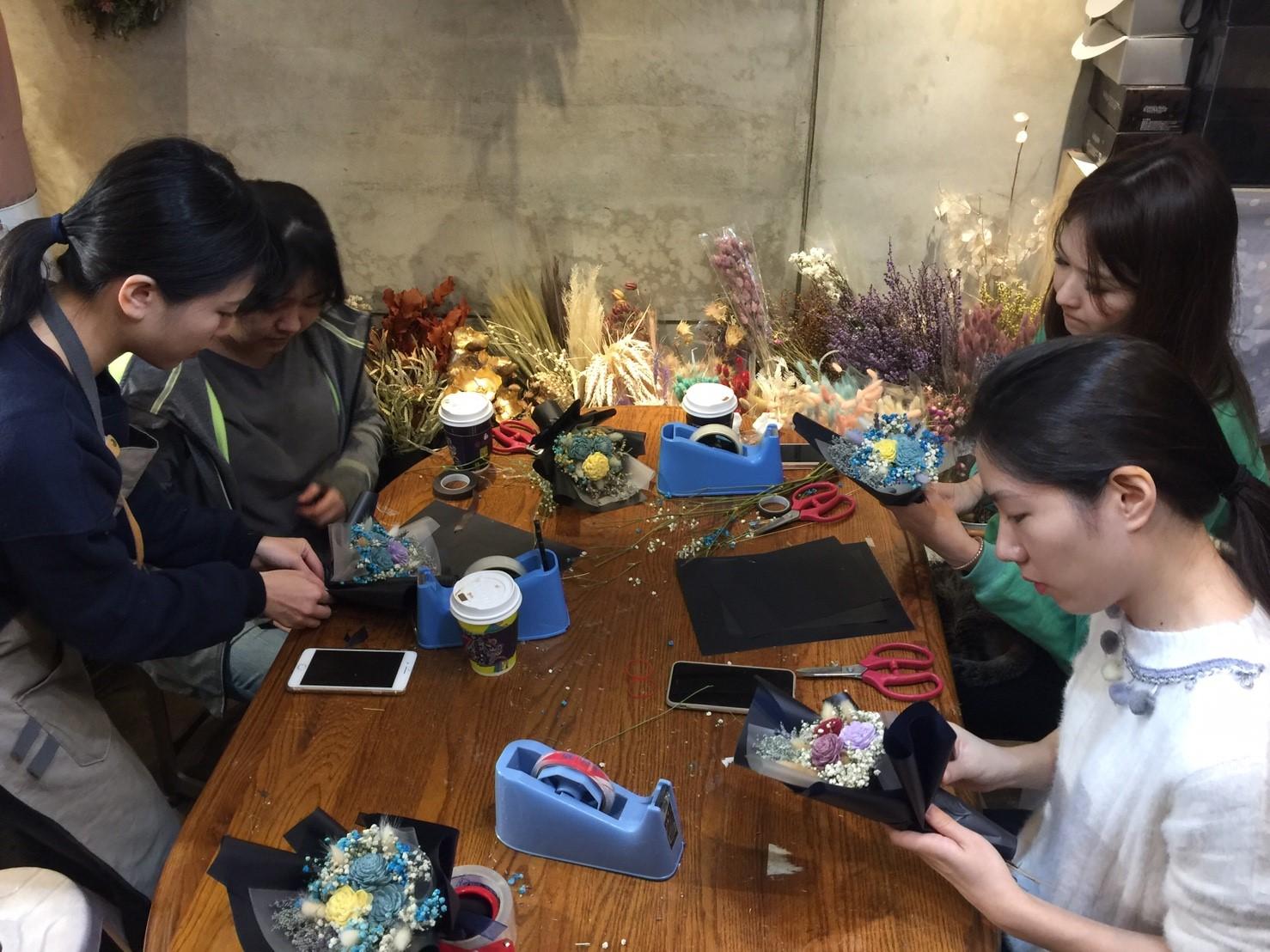 花藝課程教學,台北乾燥花課程,乾燥花課程,喜歡生活乾燥花店,乾燥盆栽教學